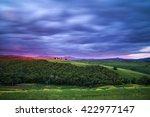 Tuscany Landscape At Sunset...