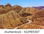 zhangye danxia landform ... | Shutterstock . vector #422985307
