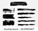 hand painted brush strokes... | Shutterstock .eps vector #422985487