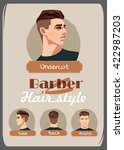 men's haircut and hairstyle.... | Shutterstock .eps vector #422987203