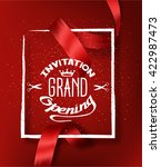 grand opening red background... | Shutterstock .eps vector #422987473