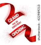 grand opening card with... | Shutterstock .eps vector #422989213