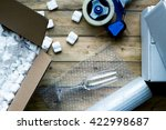 preparing for moving. packing  ... | Shutterstock . vector #422998687