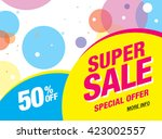 bright vector sale banner | Shutterstock .eps vector #423002557