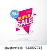 bright vector sale banner | Shutterstock .eps vector #423002713