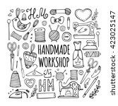 the hand drawn elements to...   Shutterstock . vector #423025147