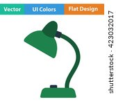 flat design icon of lamp  in ui ...