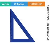 flat design icon of triangle in ...