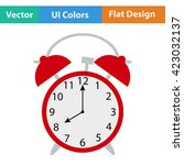 flat design icon of alarm clock ...