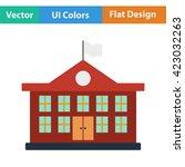 flat design icon of school...
