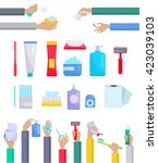 accessories and hygiene items.... | Shutterstock .eps vector #423039103