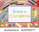 kids and children theme. brave...   Shutterstock . vector #423056377