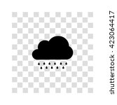 cloud with rain icon. simple...