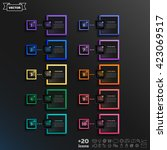 vector infographic design list... | Shutterstock .eps vector #423069517