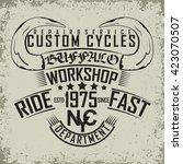 grunge motorcycle vintage... | Shutterstock .eps vector #423070507