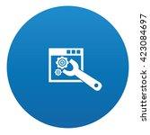 repair icon design on blue...