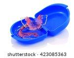 acrylic dental retainer... | Shutterstock . vector #423085363