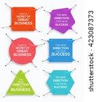 set of business banner  stretch ... | Shutterstock .eps vector #423087373