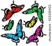 butterflies design | Shutterstock .eps vector #423100423