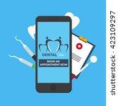 dental clinic. book an... | Shutterstock .eps vector #423109297