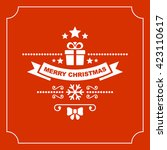 red christmas greeting card... | Shutterstock . vector #423110617