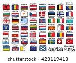 european  hand drawn flags ... | Shutterstock .eps vector #423119413