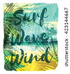 tropical beach summer print... | Shutterstock .eps vector #423144667