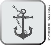 anchor flat icon  logo  button...