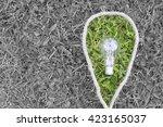 lamp on the green grass  | Shutterstock . vector #423165037