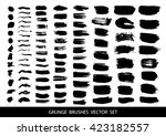 set of black paint  ink brush... | Shutterstock .eps vector #423182557