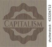 capitalism wooden signboards | Shutterstock .eps vector #423206713