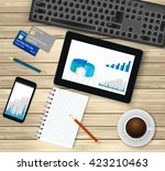business office workplace.top... | Shutterstock .eps vector #423210463