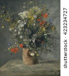 Flowers In A Vase  By Auguste...