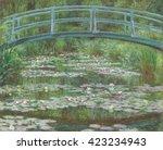 the japanese footbridge  by... | Shutterstock . vector #423234943