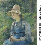 Peasant Girl With A Straw Hat ...