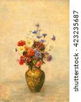 Flowers In A Vase  By Odilon...