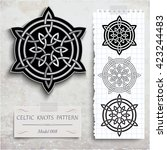 celtic knots patterns on a... | Shutterstock .eps vector #423244483