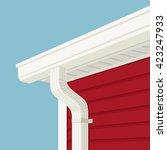 gutter  downspout  soffitt and... | Shutterstock .eps vector #423247933