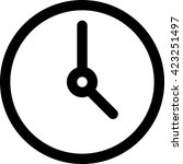 clock icon vector flat sign app ...