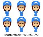 work clothes woman set | Shutterstock .eps vector #423253297