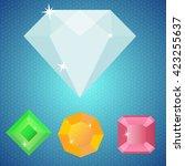 four minimalist shiny gems  ...