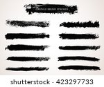 vector brush strokes.hand drawn ... | Shutterstock .eps vector #423297733