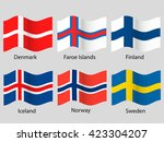 scandinavian flags | Shutterstock .eps vector #423304207