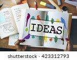 ideas create creative... | Shutterstock . vector #423312793