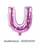 balloon font with stars part... | Shutterstock . vector #423319147