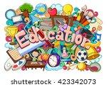 vector illustration of doodle... | Shutterstock .eps vector #423342073