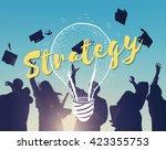 idea brainstorm creative... | Shutterstock . vector #423355753