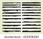 vector brush strokes.set of...   Shutterstock .eps vector #423358183