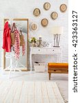 modern brick wall winter style | Shutterstock . vector #423363127