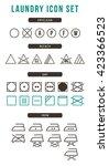 laundry icon set   Shutterstock .eps vector #423366523